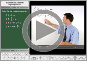 Solving Literal Equations Purplemath