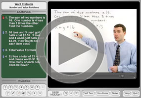 Systems of Equations Word Problems on MathHelp.com