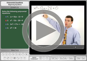 Solving Quadratic Equations on MathHelp.com