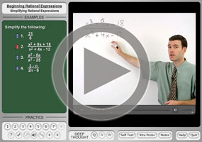 Rational Expressions: Simplifying on