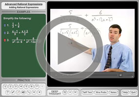 Subtracting Rational Expressions on MathHelp.com