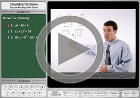 Quadratic Equations: Square Root Method on MathHelp.com
