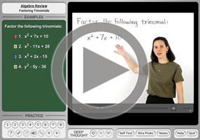 Factoring Trinomials on MathHelp.com