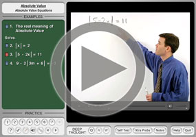Absolute Value Equations on MathHelp.com
