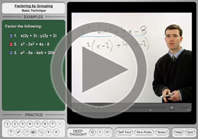 Factoring by Grouping on MathHelp.com